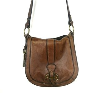 Fossil Brown Leather Crossbody Bag Purse